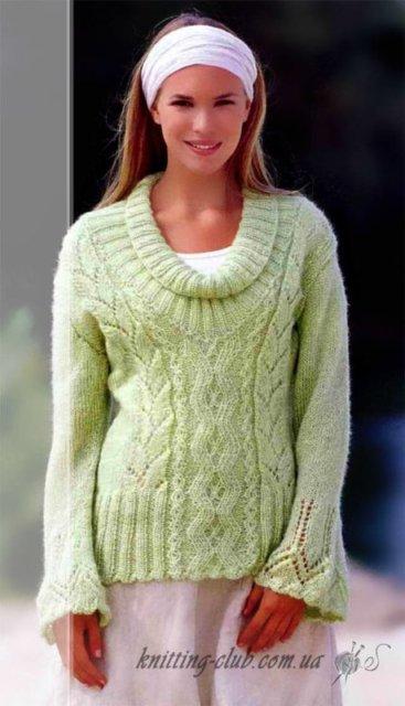 пуловернежно - зеленый, пуловер летний, пуловерс фантазийным узором, пуловер летний с узором, пуловерс геометрическим узором, пуловерженский, пуловер хлопковый, вязание спицами, как связать пуловер с орнаментом, вязание на заказ, вязание для женщин, вязаные модели для женщин, модели вязаной одежды для женщин, вязание спицами, вяжите с нами, вяжем вместе, узоры, схемы вязания, описания вязаных изделий, в'язання спицями