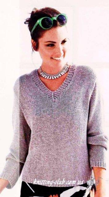пуловер с ажурным узором на спинке, пуловер ажурный серо – коричневый, женский пуловер серый, пуловер ажурный, пуловер женский, вязание спицами, как связать пуловер с ажурным узором, вязание на заказ, вязание для женщин, вязаные модели для женщин, модели вязаной одежды