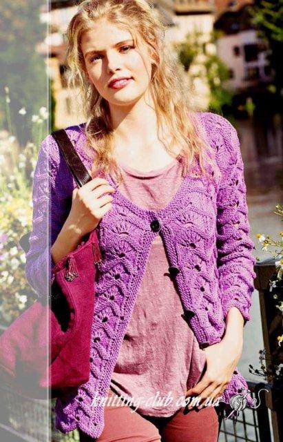 Жакет ажурный цвета фрезии, жакет с ажурными полосами, жакет ажурный, жакет женский, вязание спицами, как связать жакет с ажурным узором, вязание на заказ, вязание для женщин, вязаные модели для женщин, модели вязаной одежды