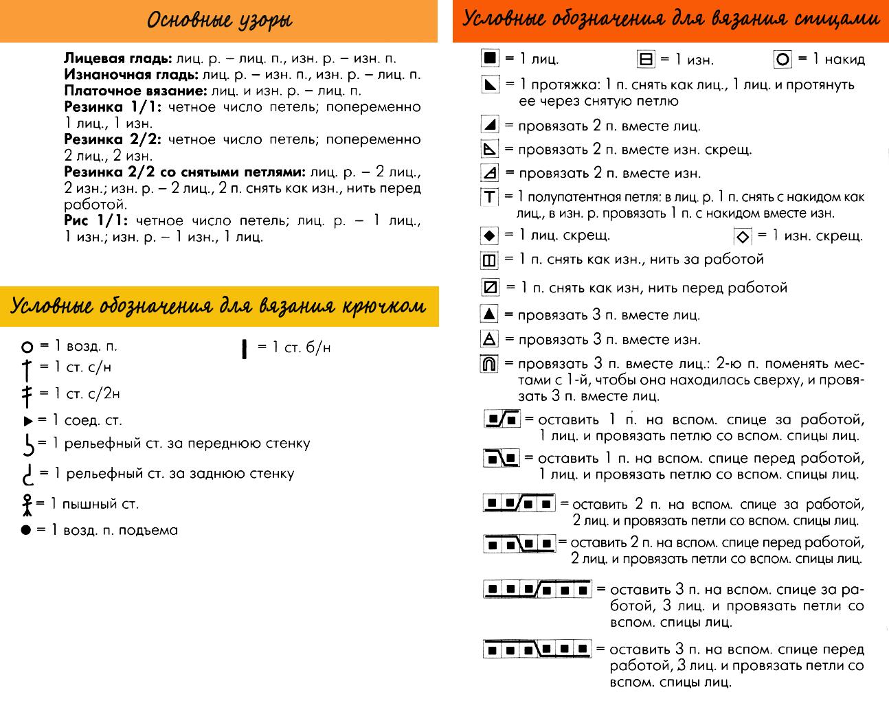 """Условные обозначения для """"Knit&Mode"""""""