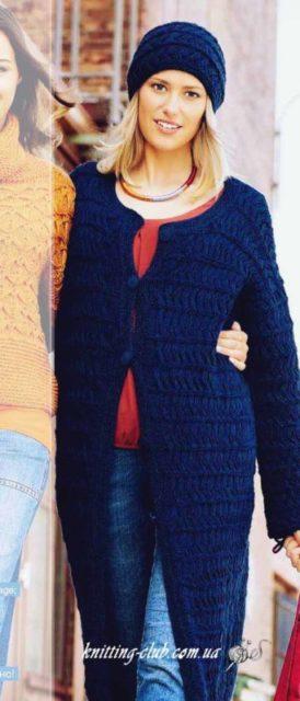 Пальто с узором из снятых петель, вязаное пальто, синее вязаное пальто, вязание для женщин, вязание на заказ, как связать пальто, модели вязаной одежды для женщин, описания и схемы вязаной одежды