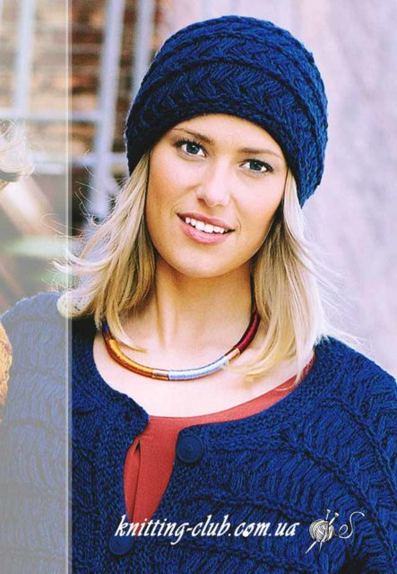 Шапка, шапка женская. шапка синяя. шапка женская синяя. шапка синяя из снятых петель, модели вязаной одежды для женщин, вязание на заказ, схемы и описания вязаной одежды