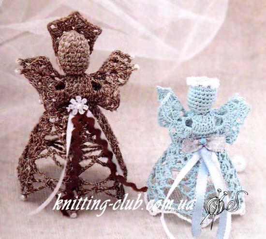 Вязаные ангелочки, вязание крючком, елочные вязаные игрушки, вязаные пасхальные игрушки, вязание на заказ, описания и схемы вязаных игрушек