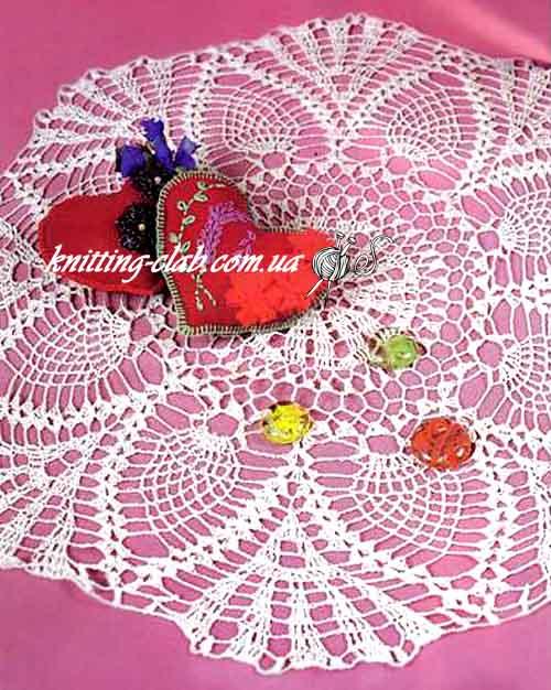 Вязание крючком, ажурная салфетка крючком, описание и схема вязаной салфетки, вязание на заказ, белая ажурная салфетка крючком