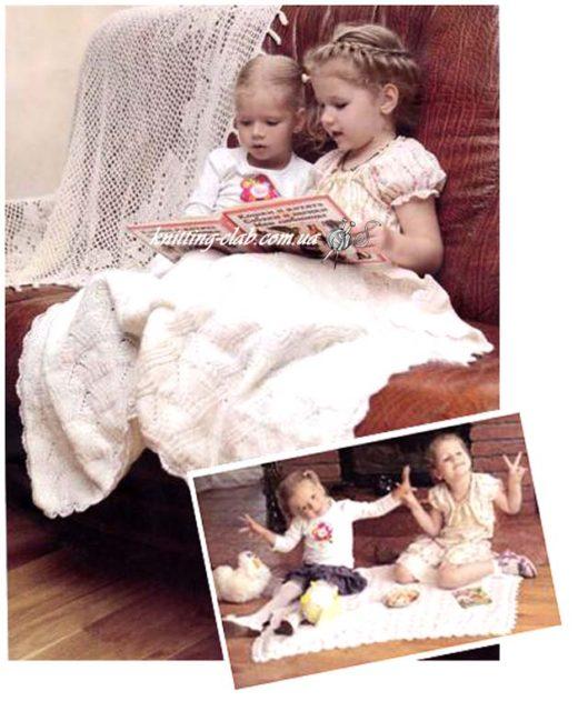Детский белый плед, плед, вязаный плед, вязание спицами, вязание детям и не только, вязание детям, вязание на заказ, белый, вязаный детский плед