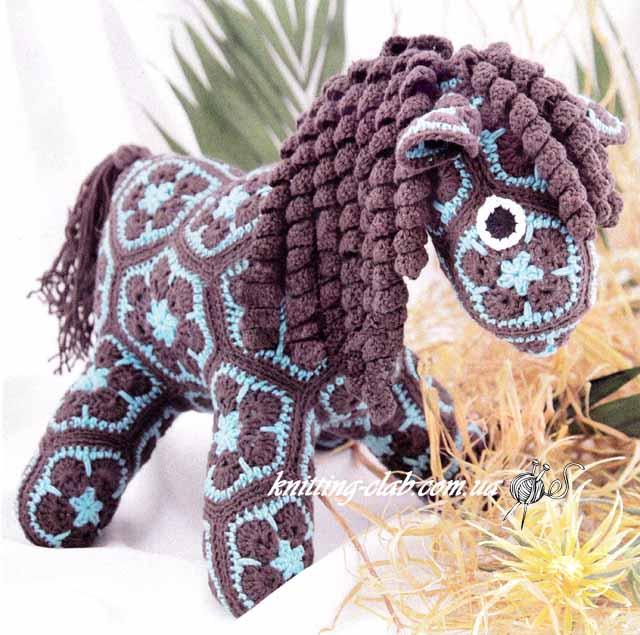 Лошадка крючком, игрушка крючком, вязаная игрушка, вязание назаказ, описание и схемы вязаных игрушек, амигуруми