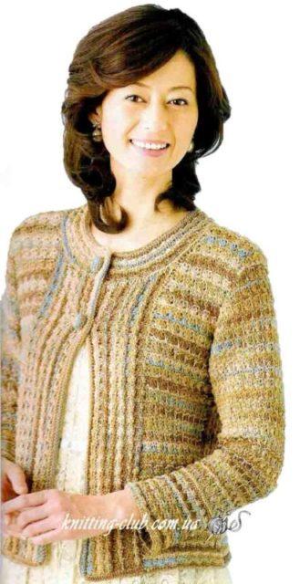 Жакет меланжевый, вязание спицами, вязание на заказ, как связать жакет, модели вязаной одежды для женщин