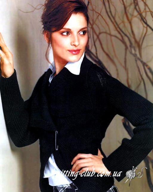 Вязаный женский жакет, вязание спицами, жакет, вязаный жакет с узором ромбы, вязание на заказ, схемы и описания вязаных изделий, модели вязаной одежды для женщин