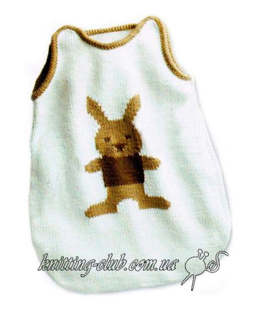 вязание для детей, спальный мешок для малыша, модели phildar