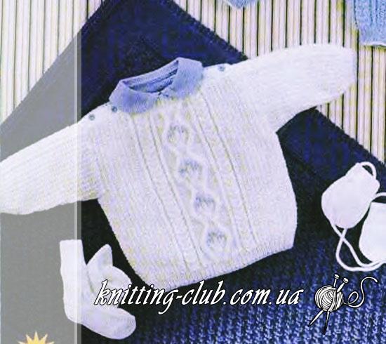 Белый детский пуловер, вязаный детский пуловер, детский пуловер с рукавом реглан, вязание детям, для самых маленьких, вязание на заказ, как связать детский пуловер