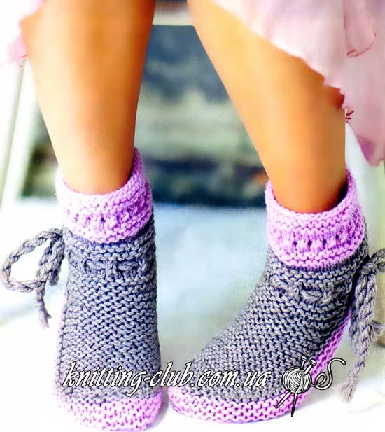 Носки, носки платочной вязкой, носки серые, носки серо – розовые, носки спицами, вяжем носки, как связать носки, детские носки, взрослые носки, вязание спицами