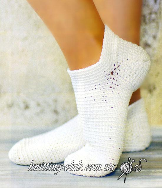 Носки крючком, вязание крючком, как связать летние носки, носки из хлопка, укороченные носки