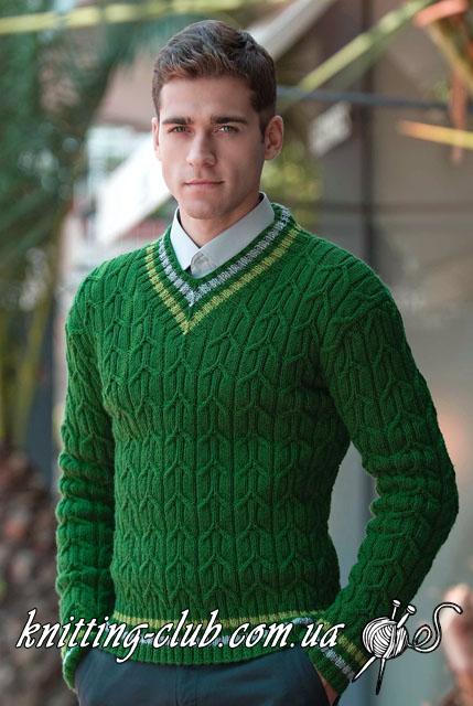 Мужской пуловер с V – образным вырезом, Пуловер с косами, мужской пуловер, зеленый пуловер, Пуловер офисный, классический пуловер с косами, вязание для мужчин, вязание спицами, вязаный пуловер, пуловер спицами, пуловер, вязаный свитер, модное вязание, вязаный джемпер, свитер спицами, джемпер спицами