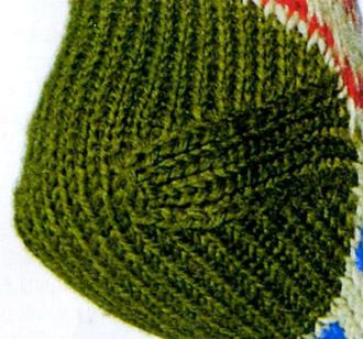Виды пяток, коническая пятка, как вязать коническую пятку, вязание спицами, носки, вязаные носки