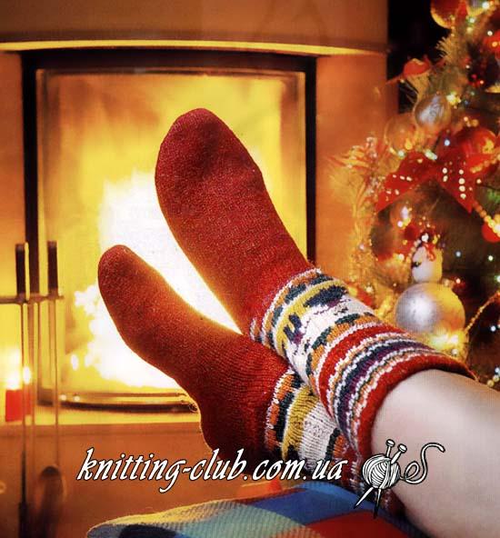 Носки, носки спицами, носки новогодние, носки с орнаментом, вязание спицами, вязаные носки