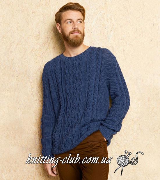 Пуловер мужской, джемпер мужской, мужской джемпер с аранами, араны, косы, мужской джемпер с косами, мужской пуловер с косами, вязание для мужчин, мужская мода