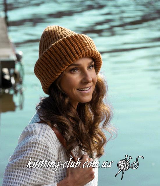 Шапка, шапка бини, шапка бини резинкой, шапка бини резинкой 1х1, теплая шапка на зиму, осенняя шапка бини резинкой, шапка резинкой с отворотом, модная шапка бини резинкой, шапка бини с модной макушкой, интересная макушка для шапки бини