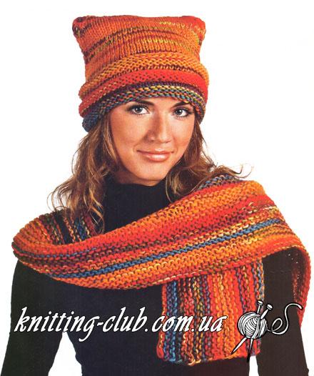 Вязаный шарф, вязаная косынка, вязаная косынка и шарф для осени и весны, вязание спицами, простой способ связать косынку, вязаный шарф крупной вязки, вязание для женщин