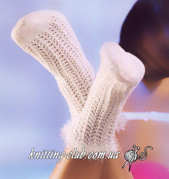 Вязаные ажурные носки, женские ажурные носки спицами, детские ажурные белые носки спицами, вязаные белые ажурные носки спицами, вязание спицами, вязаные носки, носки спицами