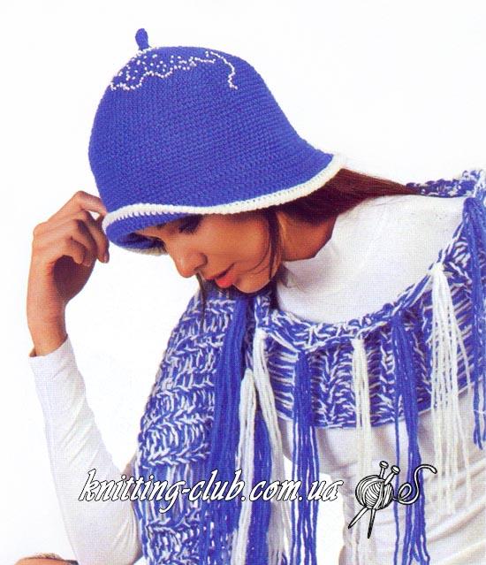 Шапка крючком с вышивкой бисером и шарф спицами, Шапка крючком с вышивкой бисером, шапка крючком, вязание крючком, вязаная женская шапка крючком, шапка и шарф, вязаный шарф, шарф спицами