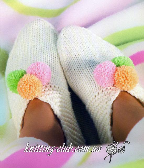 Носки с помпонами, женские вязаные носки с помпонами, детские вязаные носки с помпонами, мужские вязаные носки укороченные, вязаные тапочки – следки, вязаные носки любого размера по табличным данным, вязание спицами